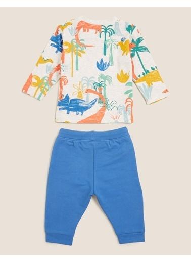 Marks & Spencer Palmiye Baskılı Takım Mavi